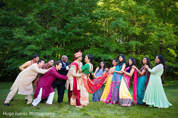 Wedding Party in Pearl River, NY Indian Wedding by Hugo Juarez Photography
