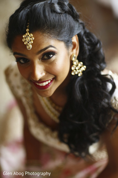 Lovely indian bride's portrait