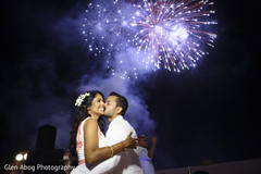 Indian wedding reception fireworks