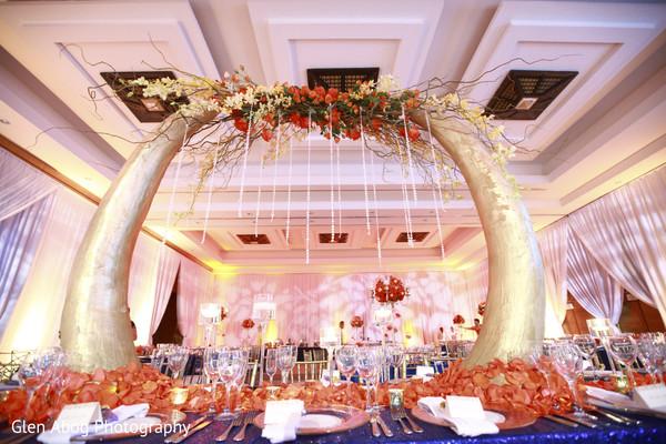 Stunning indian wedding reception.