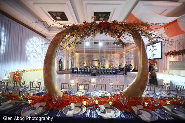 Beautiful wedding reception decor