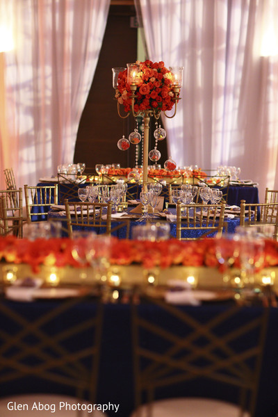 Indian wedding reception decor