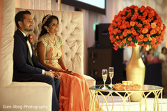Lovely indian couple at their wedding reception