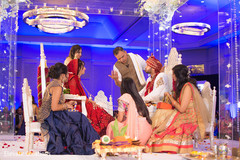 indian wedding ceremony,indian bride,indian groom,floral and decor