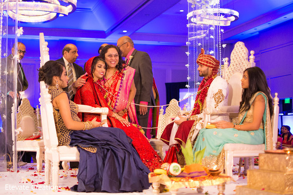 Varmala ceremony. in Atlanta, Georgia Indian Wedding by Elevate Creations