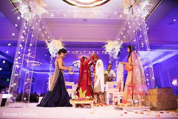 Lavish indian wedding ceremony. in Atlanta, Georgia Indian Wedding by Elevate Creations