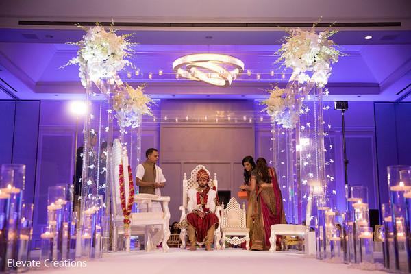 indian wedding ceremony,mandap,indian groom,indian wedding ceremony floral and decor