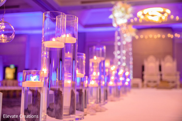 Lovely floating candles . in Atlanta, Georgia Indian Wedding by Elevate Creations