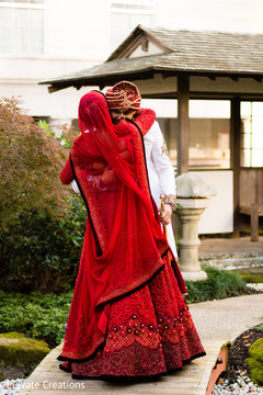 indian bridal fashion,indian bride,lengha,red lengha,indian groom