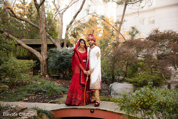 Garden themed  Indian wedding photo shoot. in Atlanta, Georgia Indian Wedding by Elevate Creations