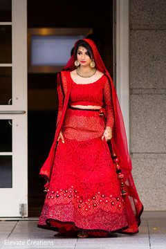 indian wedding photography,indian bride,red lengha,bridal fashion