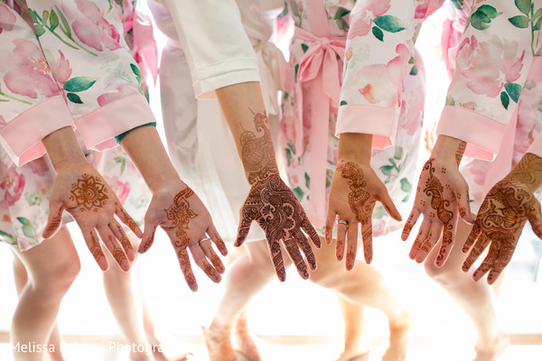 Beautiful mehndi art in Boston, MA Indian Fusion Wedding by Melissa Robotti Photography