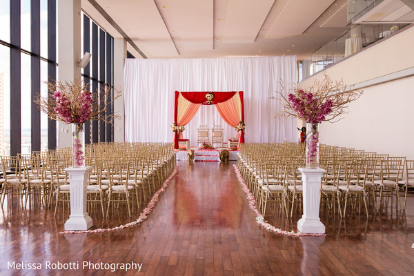 Elegant wedding ceremony decor in Boston, MA Indian Fusion Wedding by Melissa Robotti Photography