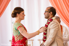 Indian wedding ceremony Jai Mala ritual