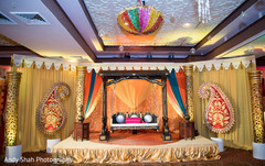 Traditional sangeet stage.