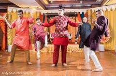Indian groom's Bollywood choreography.