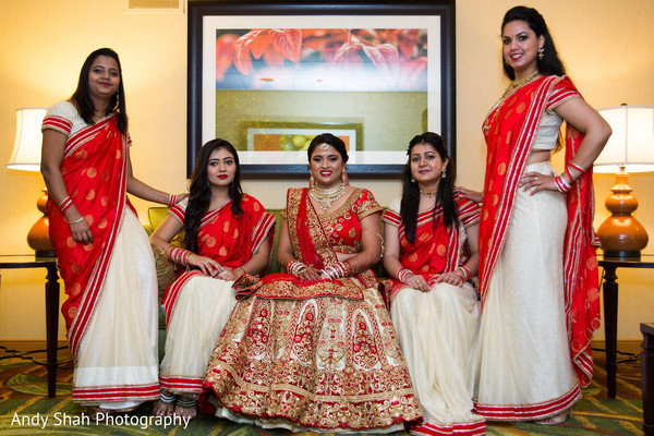 indian bride,indian bridesmaids,saris,bridal fashion