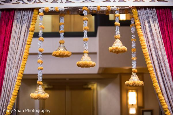 Gorgeous Indian wedding entrance decor.