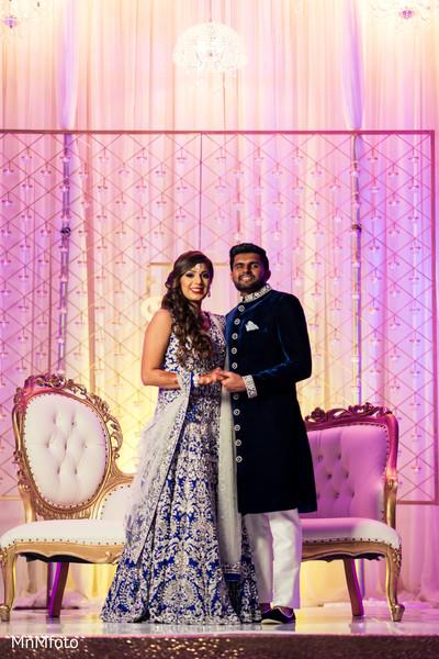 indian wedding reception,indian bride,indian groom,portrait