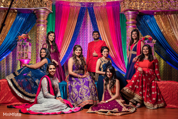 pre-wedding fashion,pre- wedding celebrations,indian bride,bridesmaids