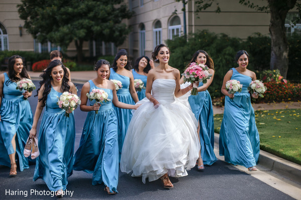 indian bridesmaids' fashion,indian bride ceremony fashion,indian bridal bouquet