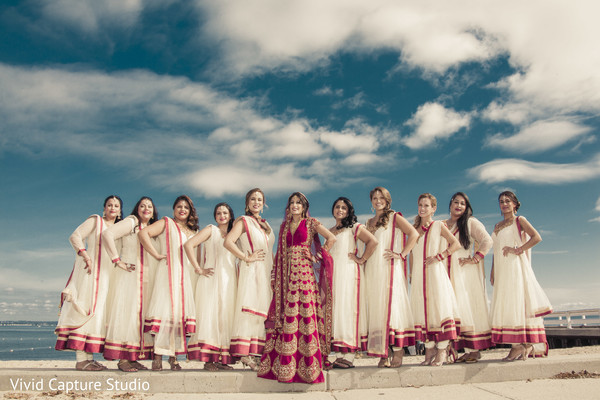 indian bride fashion,indian bridesmaids' fashion,outdoor photography