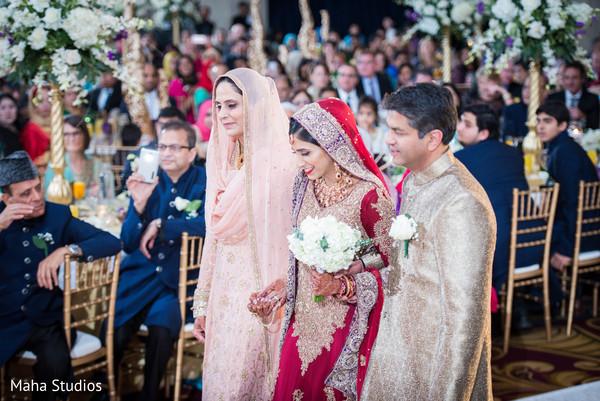 Lovely Pakistani bride entering the bride.