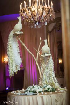 Fabulous wedding floral peacocks