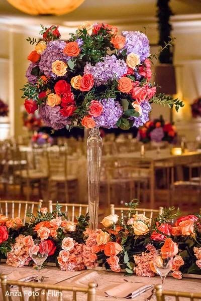 Indian Wedding Floral Arrangements For Tables Photo 116295