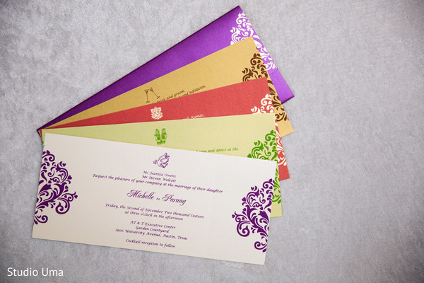 Four day events Indian wedding invitations.