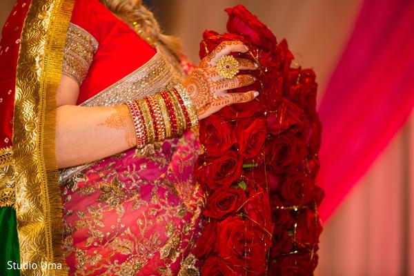 indian wedding ceremony,indian bride,garland