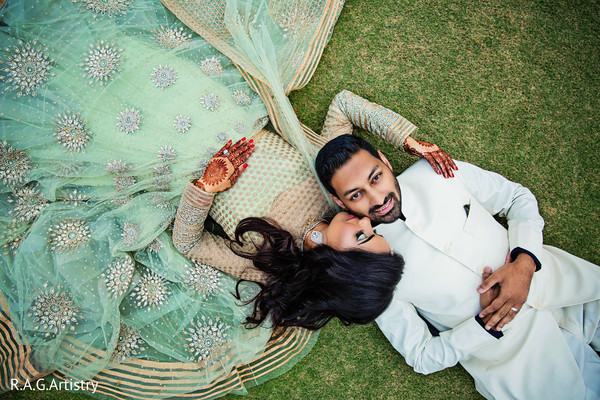 Sweet indian couple portrait in Lake Lanier, Georgia Indian Wedding by RAG Artistry