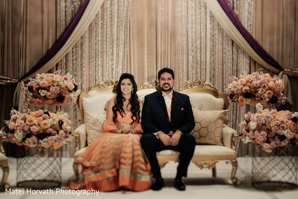 indian wedding reception,indian groom,indian bride,floral and decor