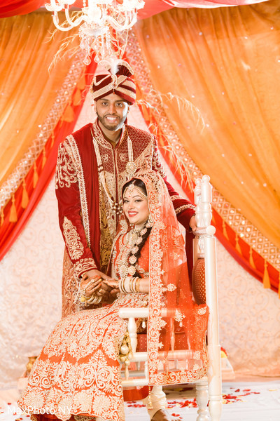 indian bride and groom portrait,indian bride fashion,indian groom outfit