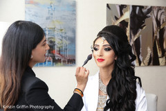indian bride getting ready,indian bride hair and makeup