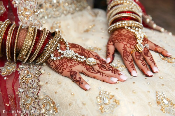 Indian bridal hand mehndi and jewelry. in Hartford, CT South Asian Wedding by Kristin Griffin Photography