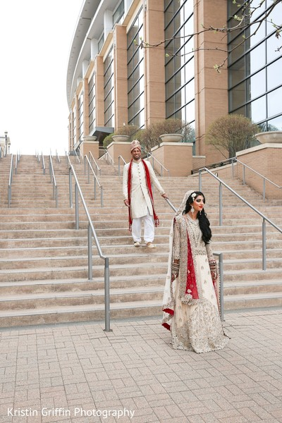 First look Indian wedding photography. in Hartford, CT South Asian Wedding by Kristin Griffin Photography
