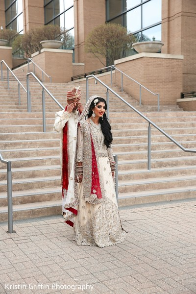 Insanely beautiful first look  indian wedding photography. in Hartford, CT South Asian Wedding by Kristin Griffin Photography