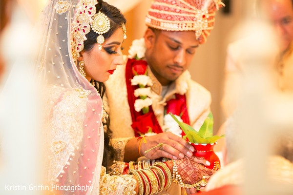 Wonderful Indian wedding ceremony shot. in Hartford, CT South Asian Wedding by Kristin Griffin Photography