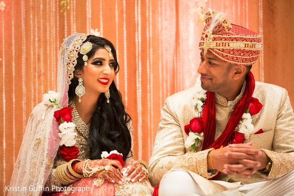 Graceful Indian couple. in Hartford, CT South Asian Wedding by Kristin Griffin Photography