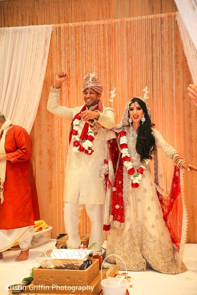 Amazing newly wedded Indian couple. in Hartford, CT South Asian Wedding by Kristin Griffin Photography