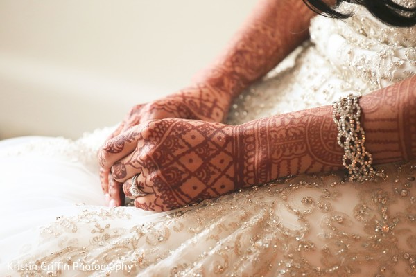 Perfect Indian bride's mehndi art. in Hartford, CT South Asian Wedding by Kristin Griffin Photography