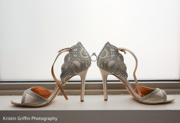 Perfect indian bridal shoes. in Hartford, CT South Asian Wedding by Kristin Griffin Photography