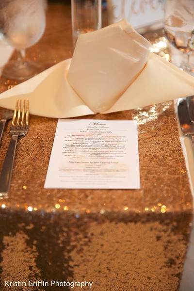 Indian wedding reception menu. in Hartford, CT South Asian Wedding by Kristin Griffin Photography