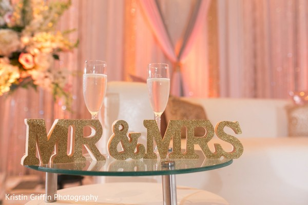 Indian wedding Mr and Mrs sign. in Hartford, CT South Asian Wedding by Kristin Griffin Photography