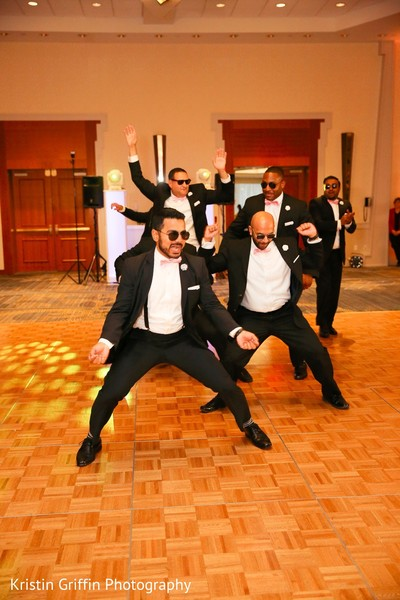 indian wedding reception,indian groomsmen,dj,choreography