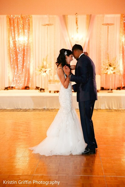Inspiring Indian wedding reception. in Hartford, CT South Asian Wedding by Kristin Griffin Photography
