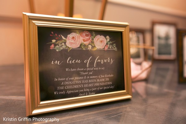 Indian wedding reception sign. in Hartford, CT South Asian Wedding by Kristin Griffin Photography
