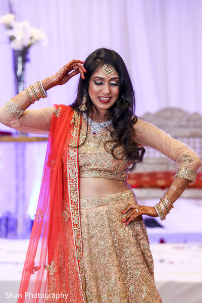 Enchanting indian bride at wedding reception in Dayton, OH Indian Wedding by Shan Photography