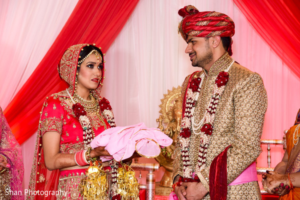 Indian bride and groom at wedding ceremony in Dayton, OH Indian Wedding by Shan Photography
